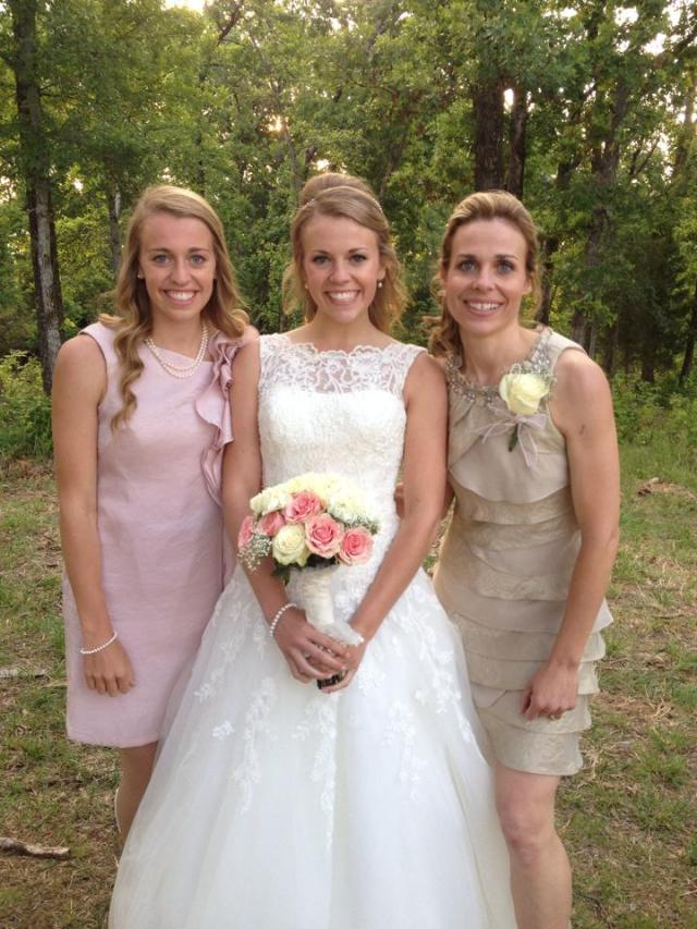 With my maid of honor (my sweet sister) and beautiful mom!